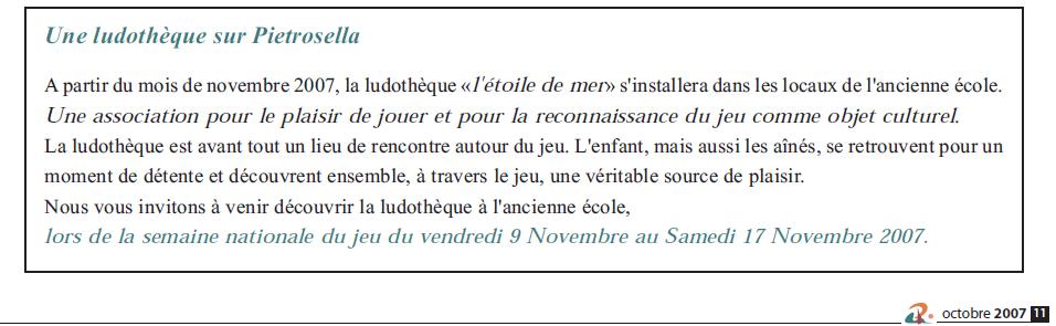Journal de Pietrosella 2007